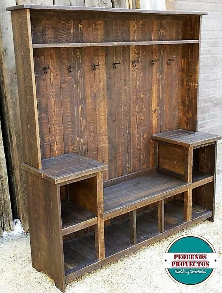 upcycled wood pallets wardrobe