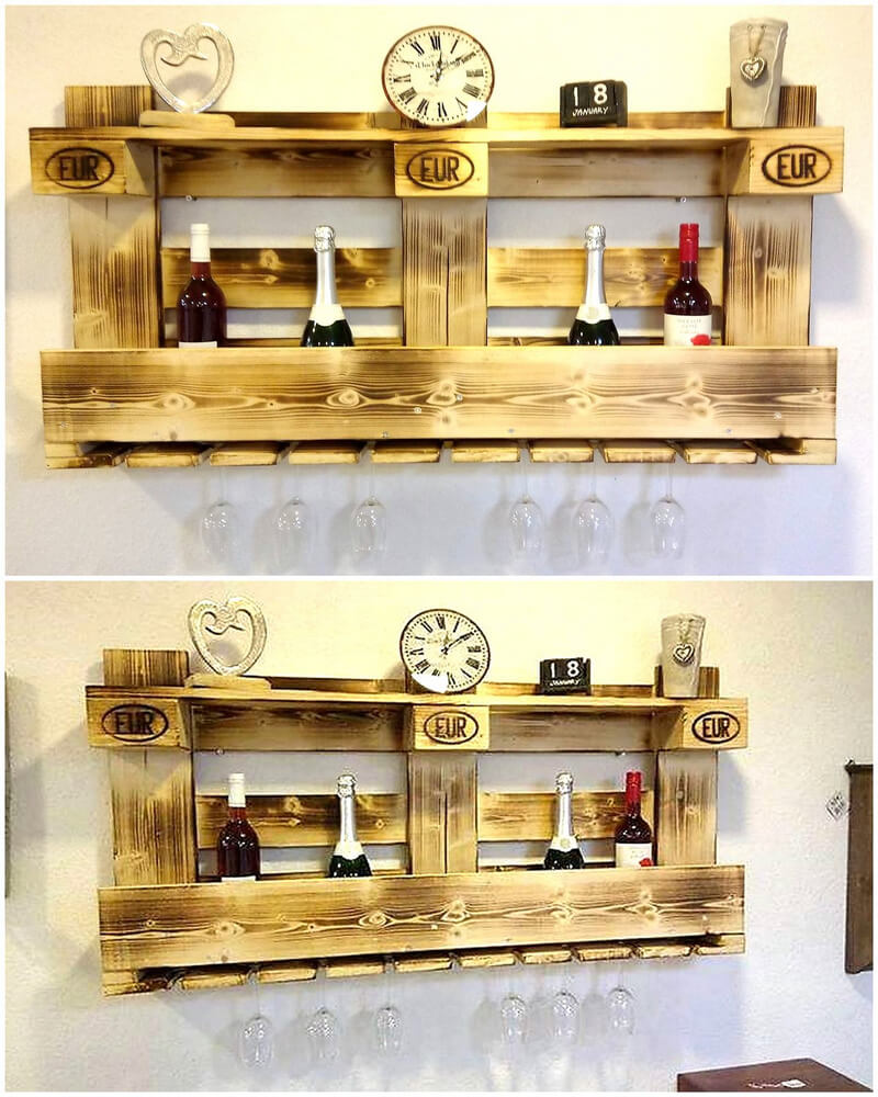 Pallet Shelves Ideas: 20 Easy Wood Pallet Ideas For Your Home