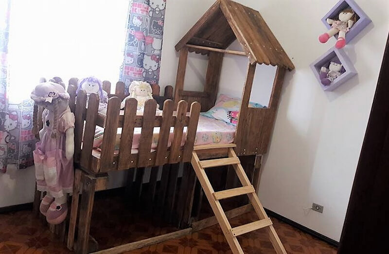 wood pallets kids bed