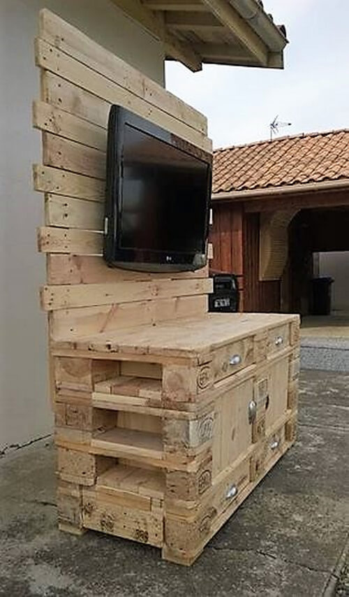 wood pallets tv stand