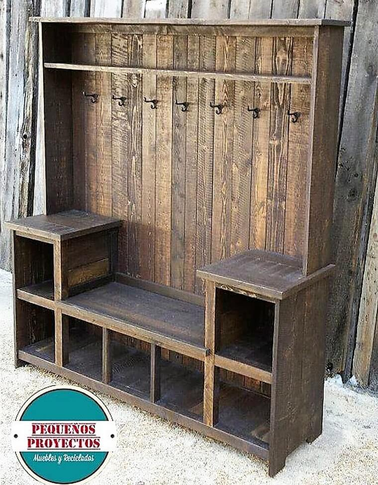 wood pallets wardrobe