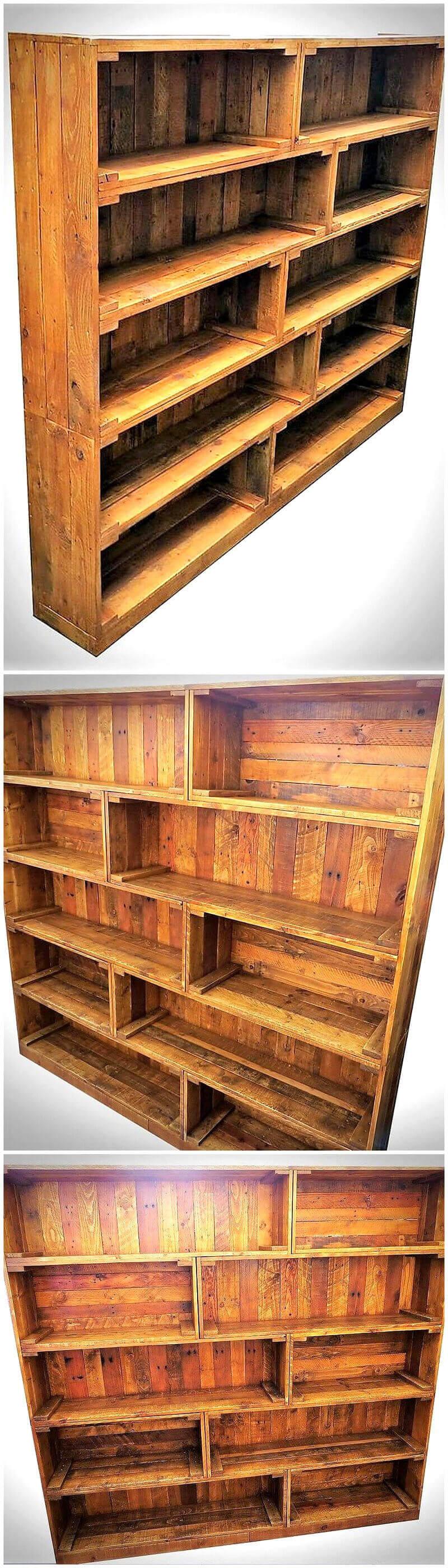 wooden pallet shelving cabinet 21