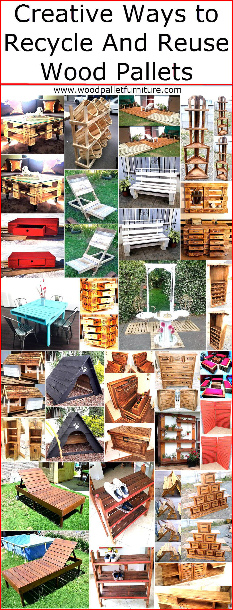 creative ways to recycle and reuse wood pallets wood