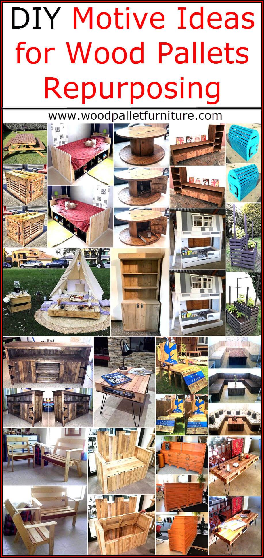 DIY Motive Ideas for Wood Pallets Repurposing