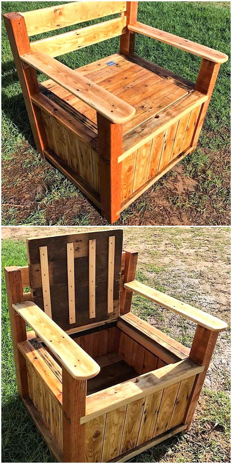 Pallets Big Storage Chair