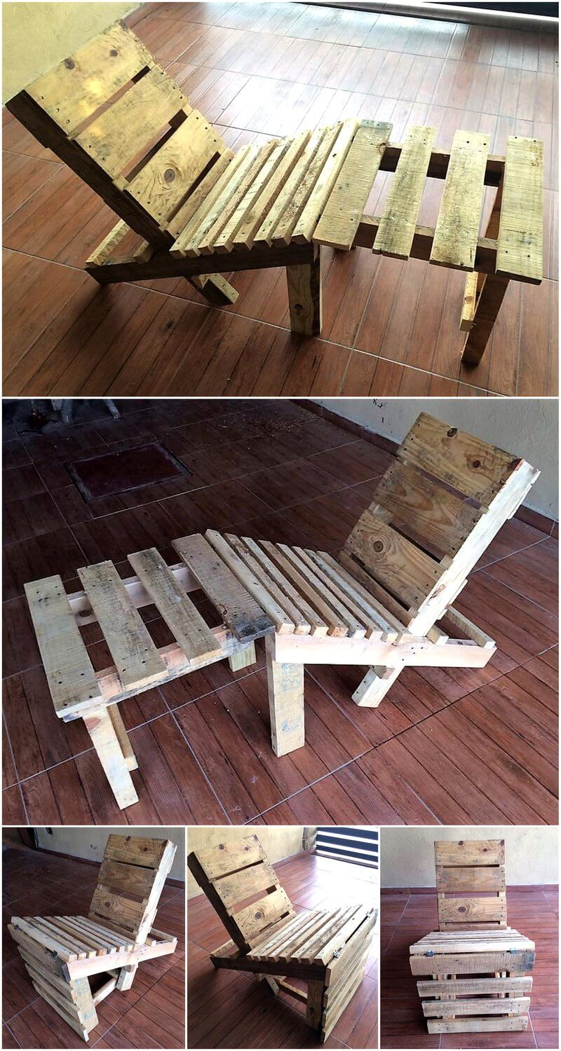 repurposed used wood pallets chair wood pallet furniture