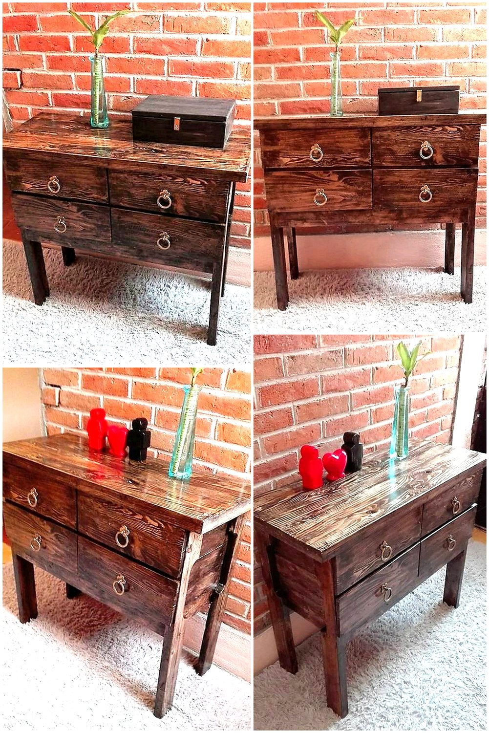 Pallet Foyer Table : Repurposed wooden pallets entryway table wood pallet