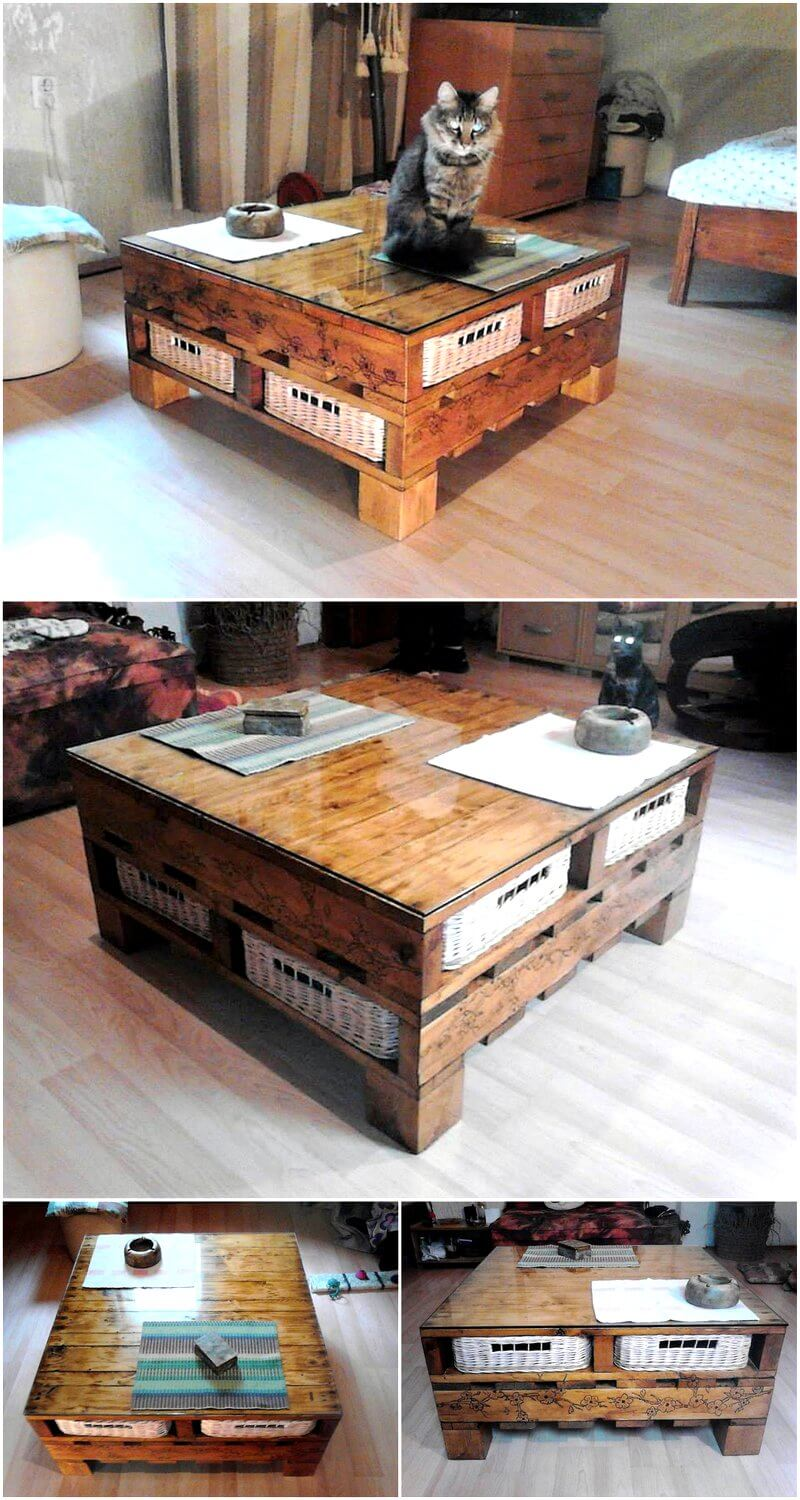 Repurposed Wooden Pallets Table Plan