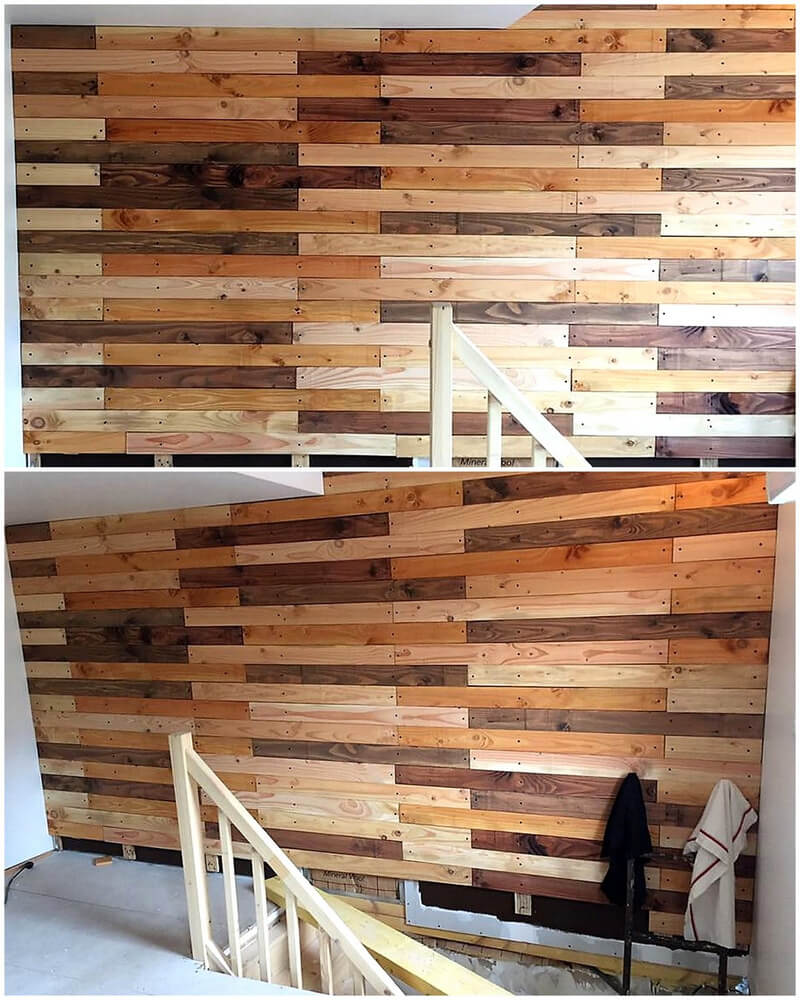 Wall Cladding Out of Wood Pallets