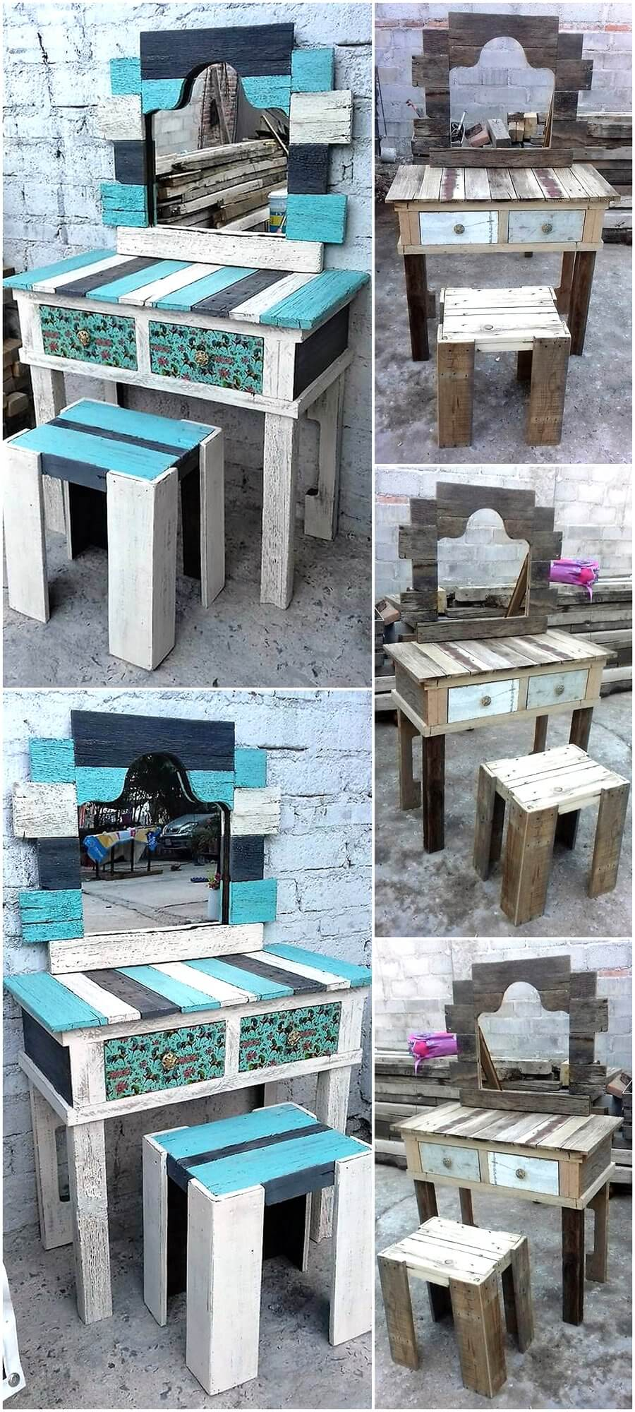 Wood Pallets Vintage Vanity Project
