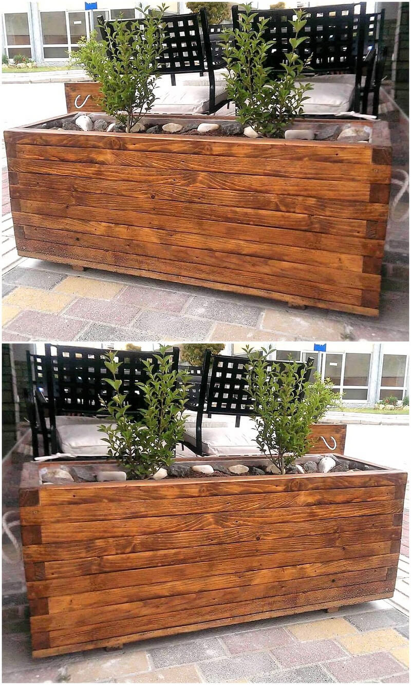 creative wood pallet planters