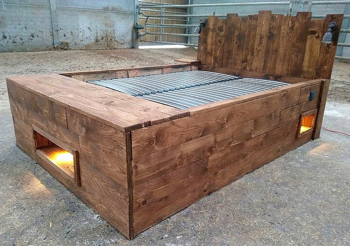 giant pallet bed diy