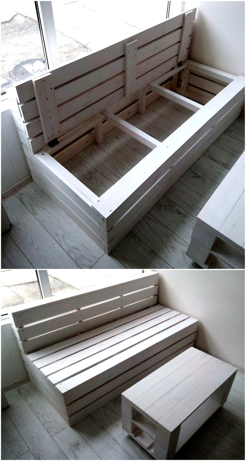 pallet furniture with storage