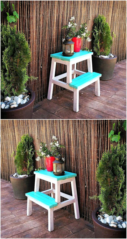 pallet garden decor table