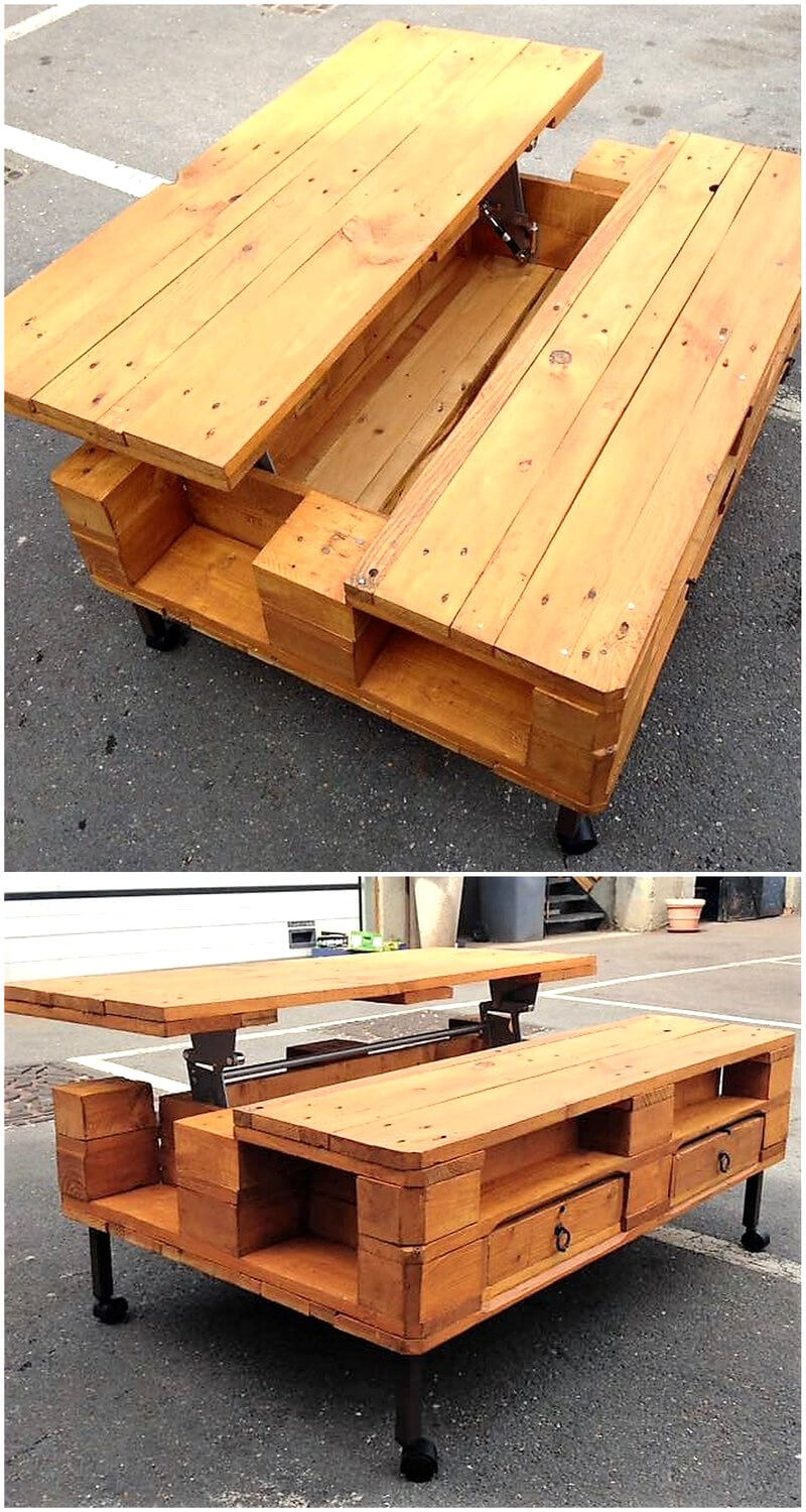 pallet made top up table