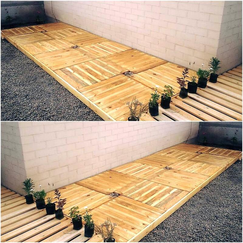 pallet patio terrace flooring