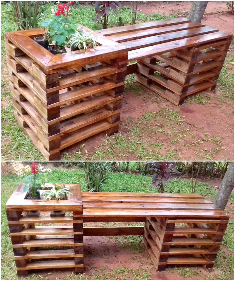 pallet planter bench idea