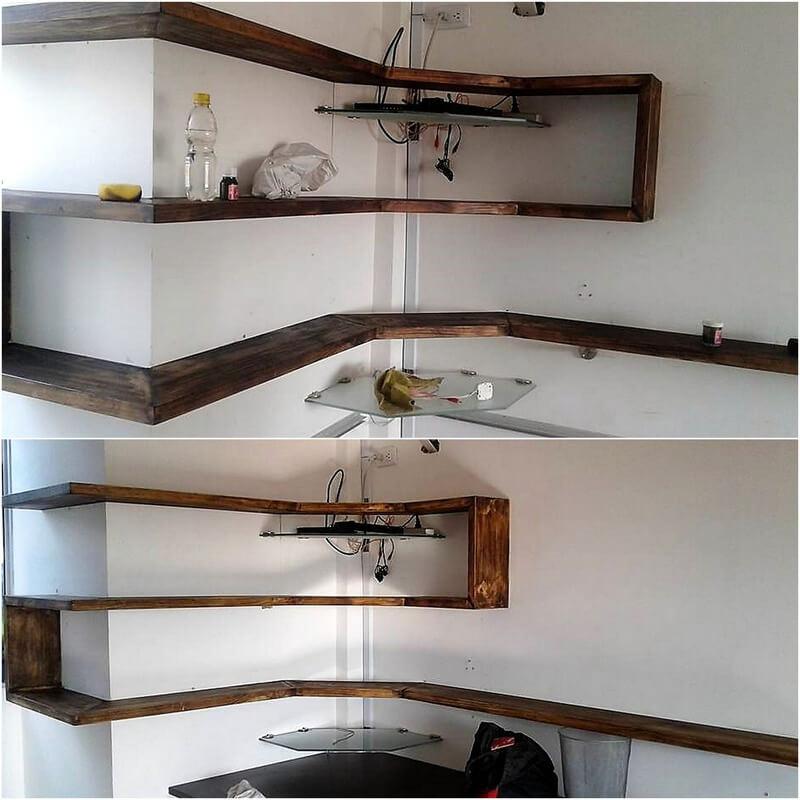 pallet wood shelving idea