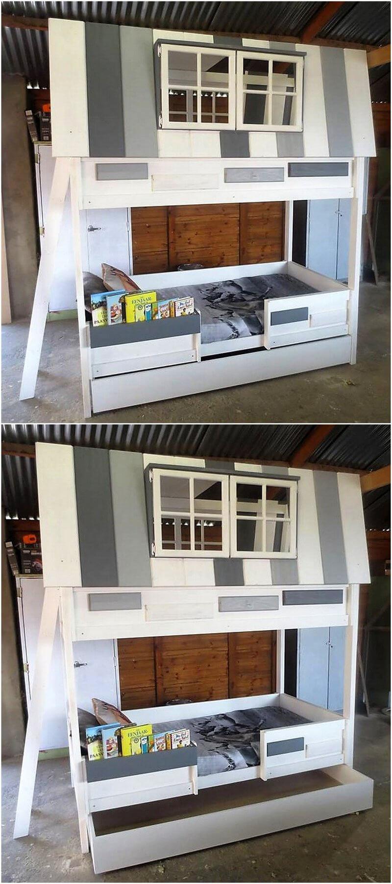 pallets bed for kids