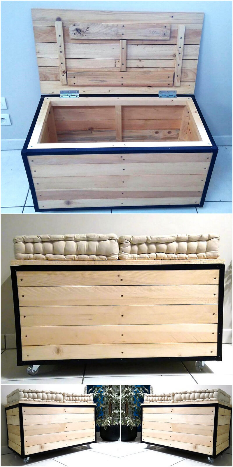 pallets chest cum seating