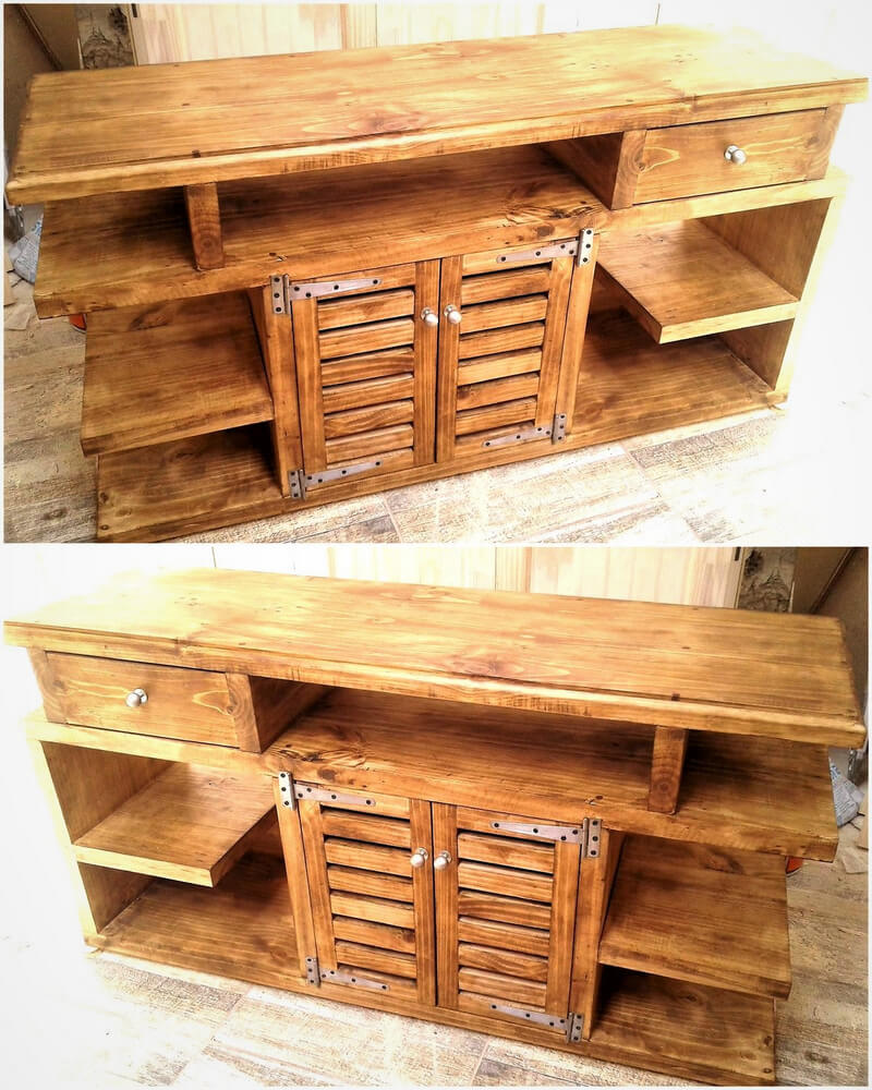 pallets drawers and shelving cabinet