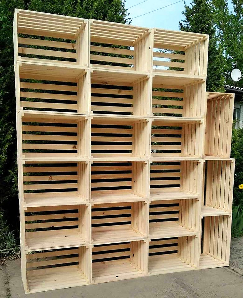 pallets fruit crates shelving plan