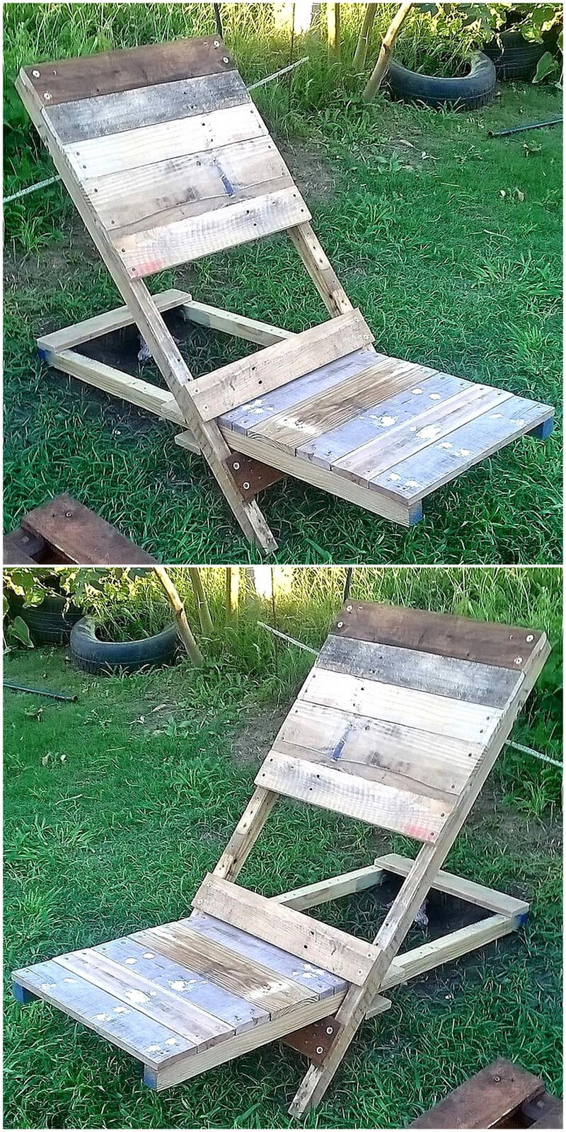 pallets made chair