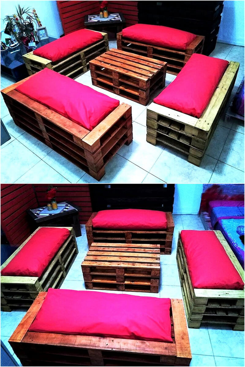 pallets made furniture plan