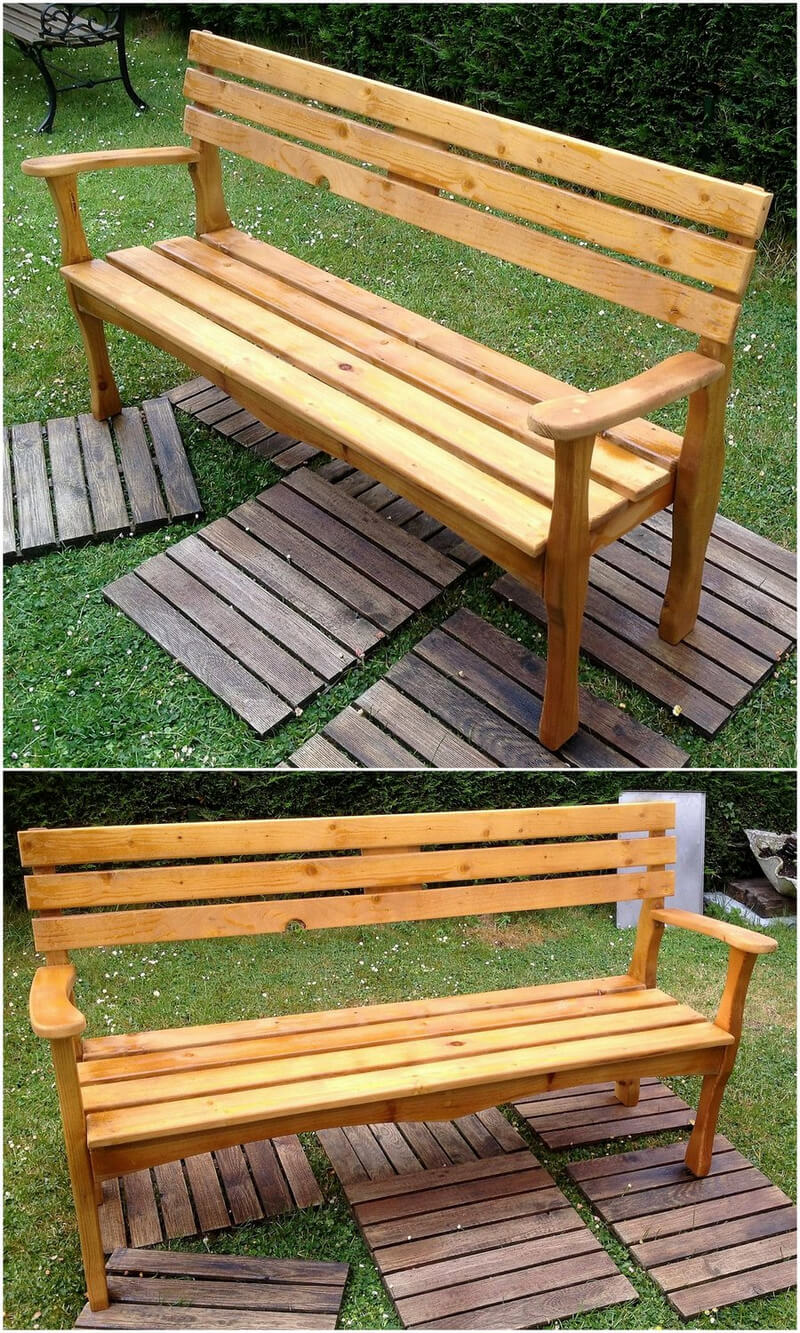 pallets made patio bench