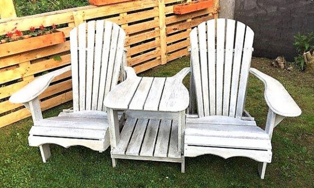 Pallets Wooden Adirondack Garden Seats with Tablet