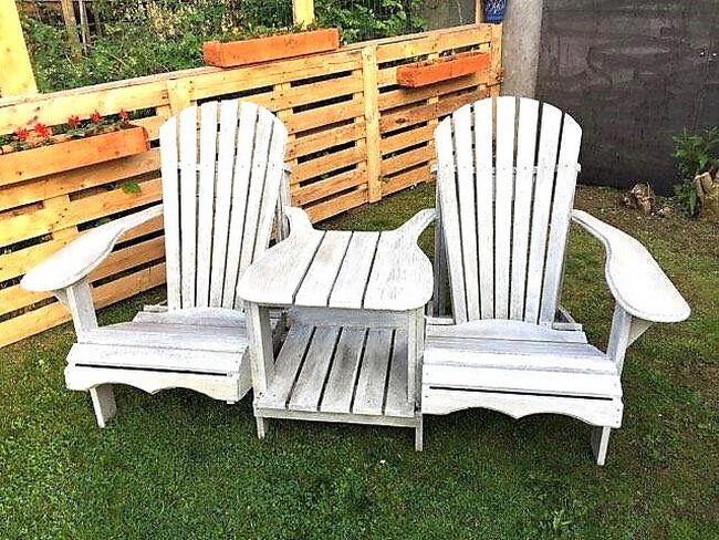 pallets made patio chairs