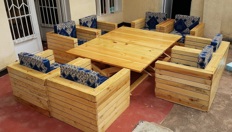 pallets pallet couch and table set 2