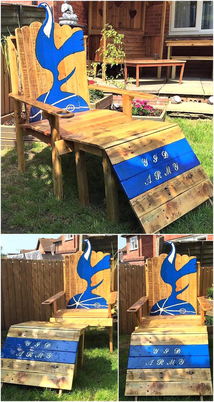 pallets wooden garden chair plan