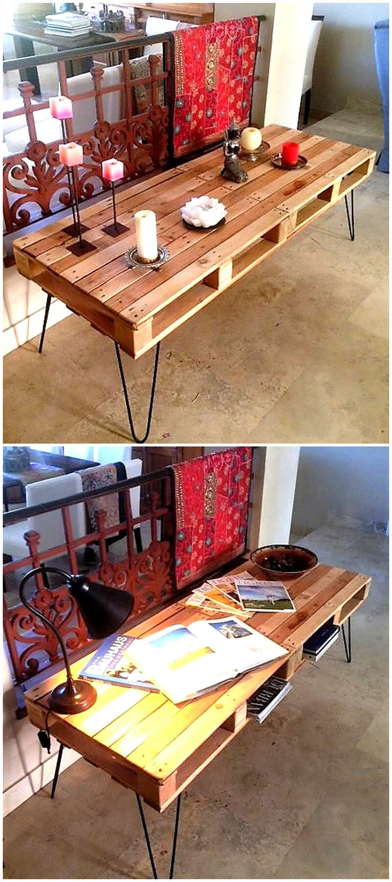 reclaimed pallet made table