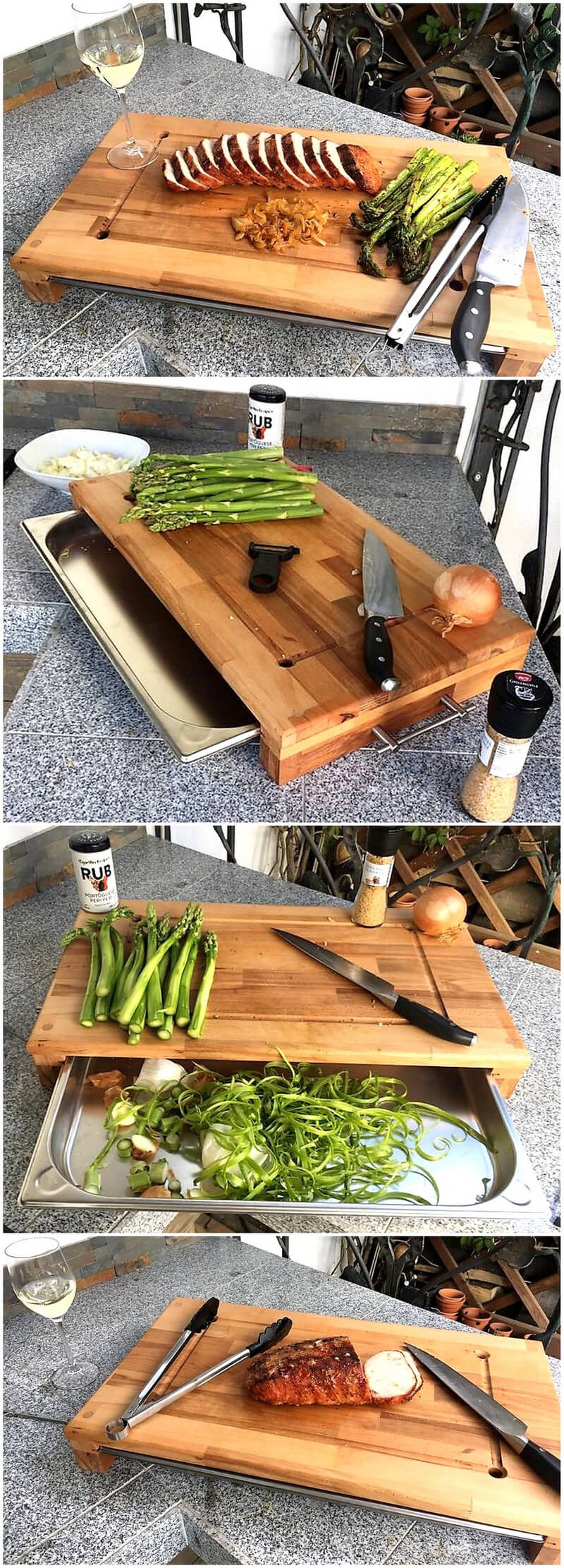 reclaimed wood pallet cutting board