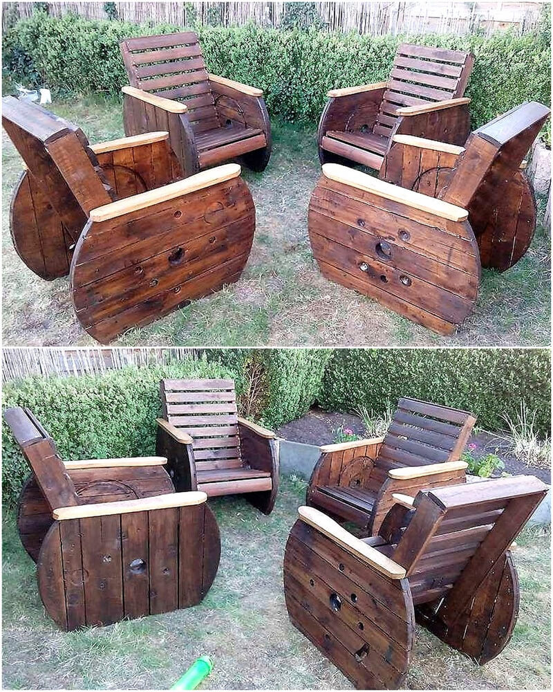 recycled pallet cable spool patio furniture