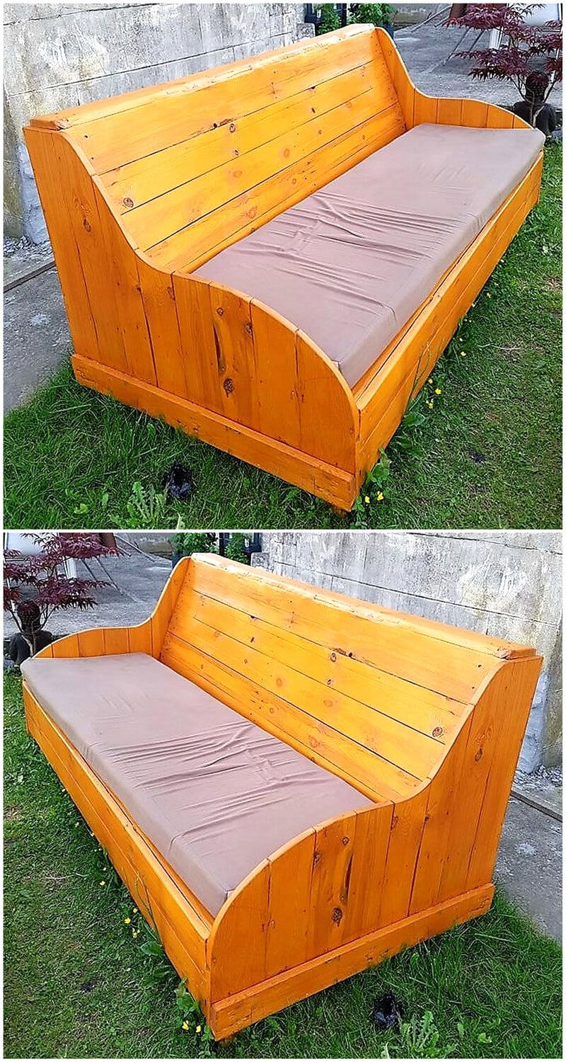 recycled pallets garden couch