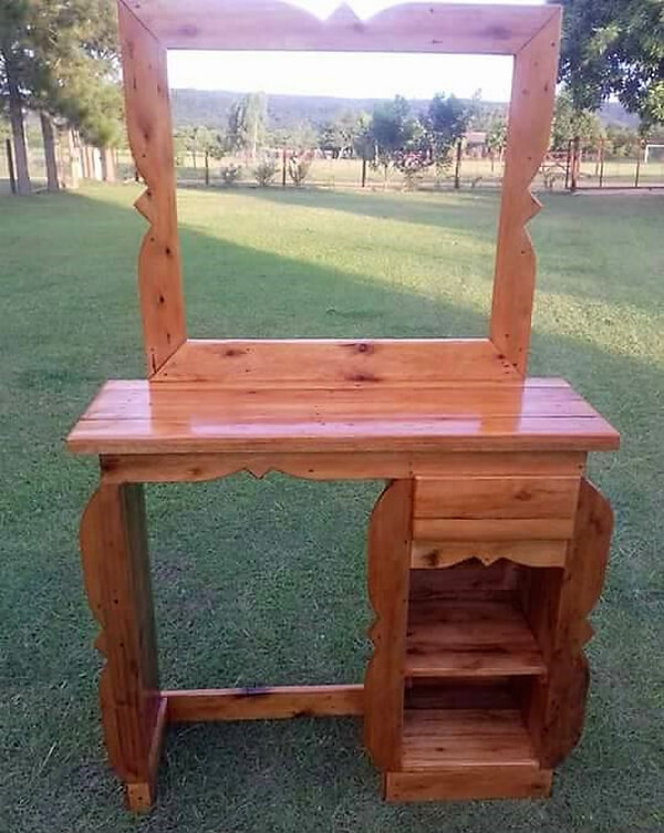 Rustic Vanity Out of Wood Pallets | Wood Pallet Furniture