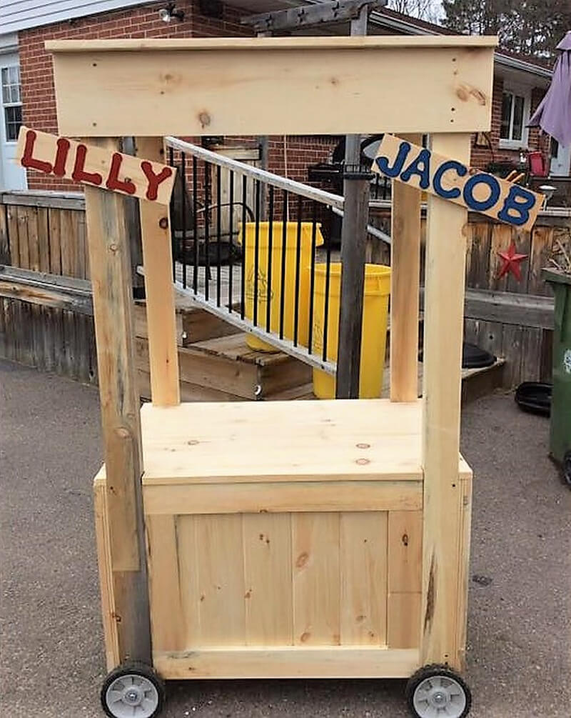 recycled wood pallet bar 2