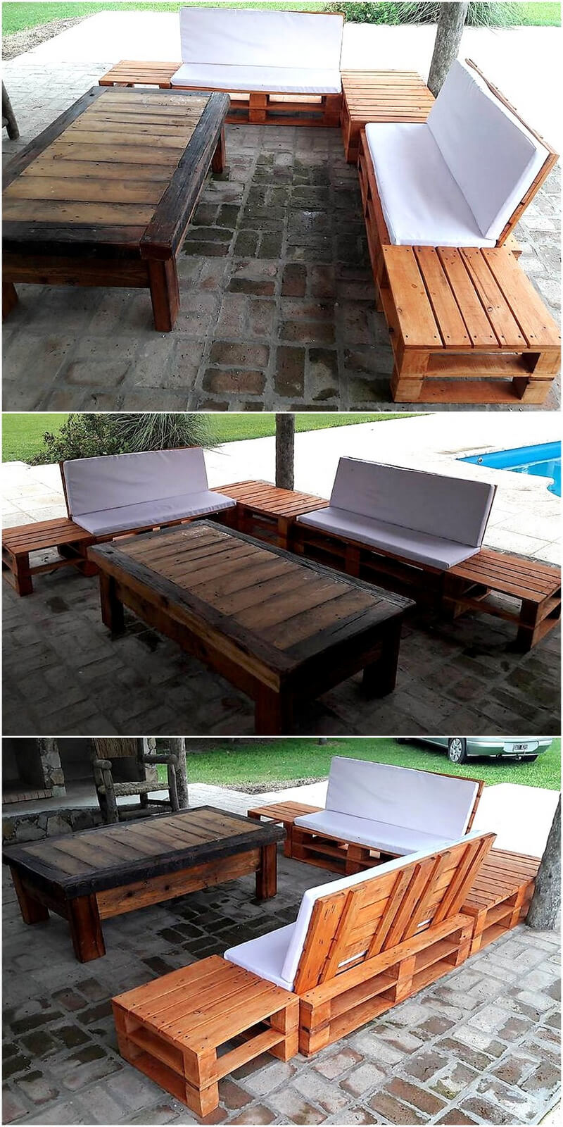 repurposed pallet patio couch set