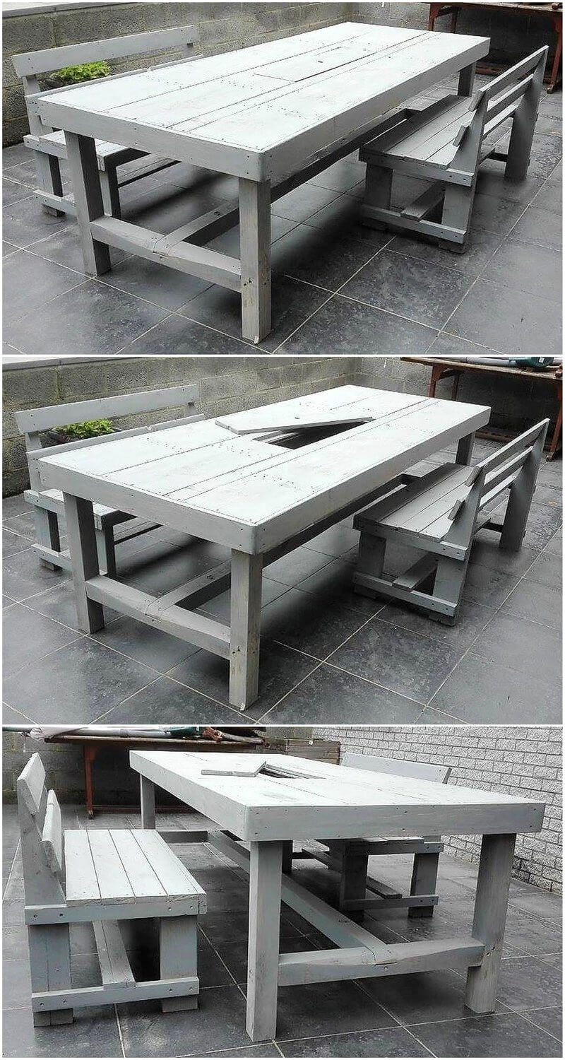 repurposed pallets dining set