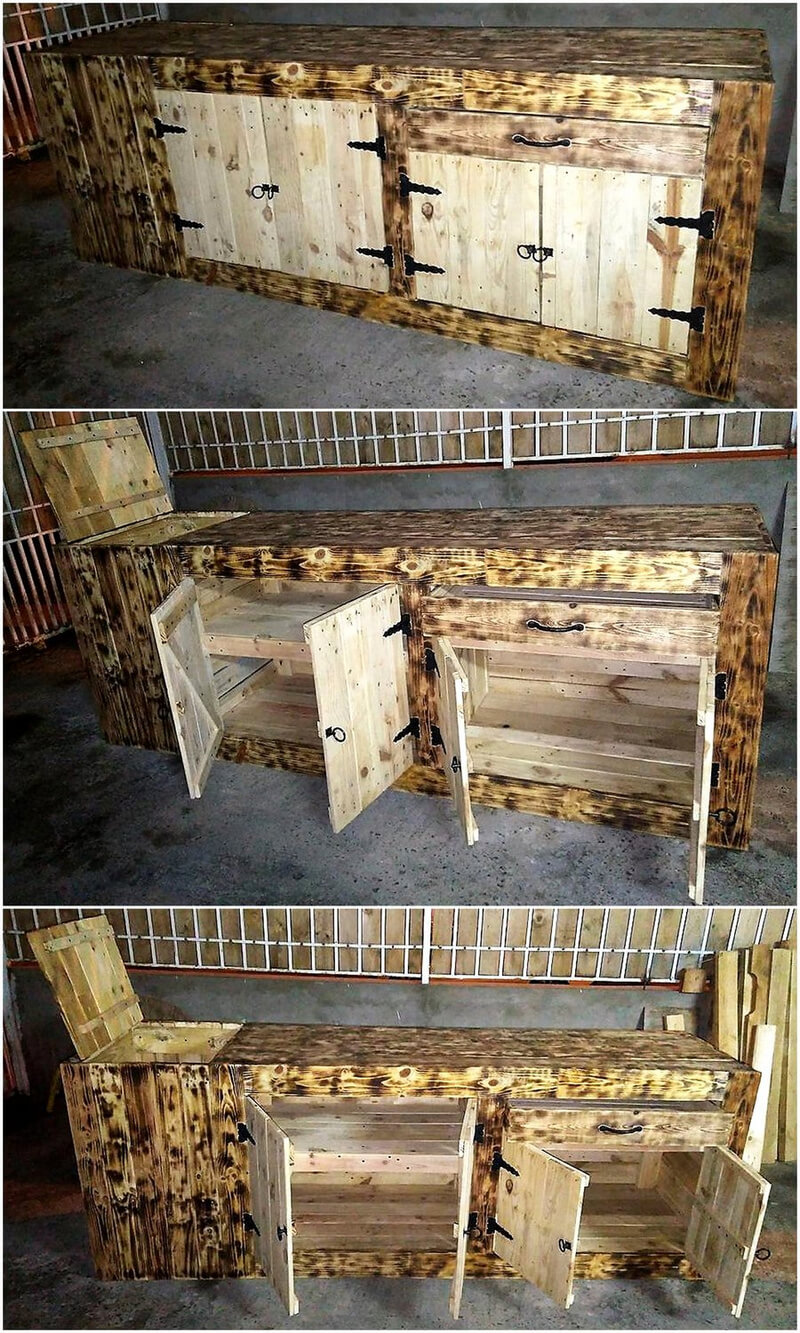 repurposed pallets tv stand plan