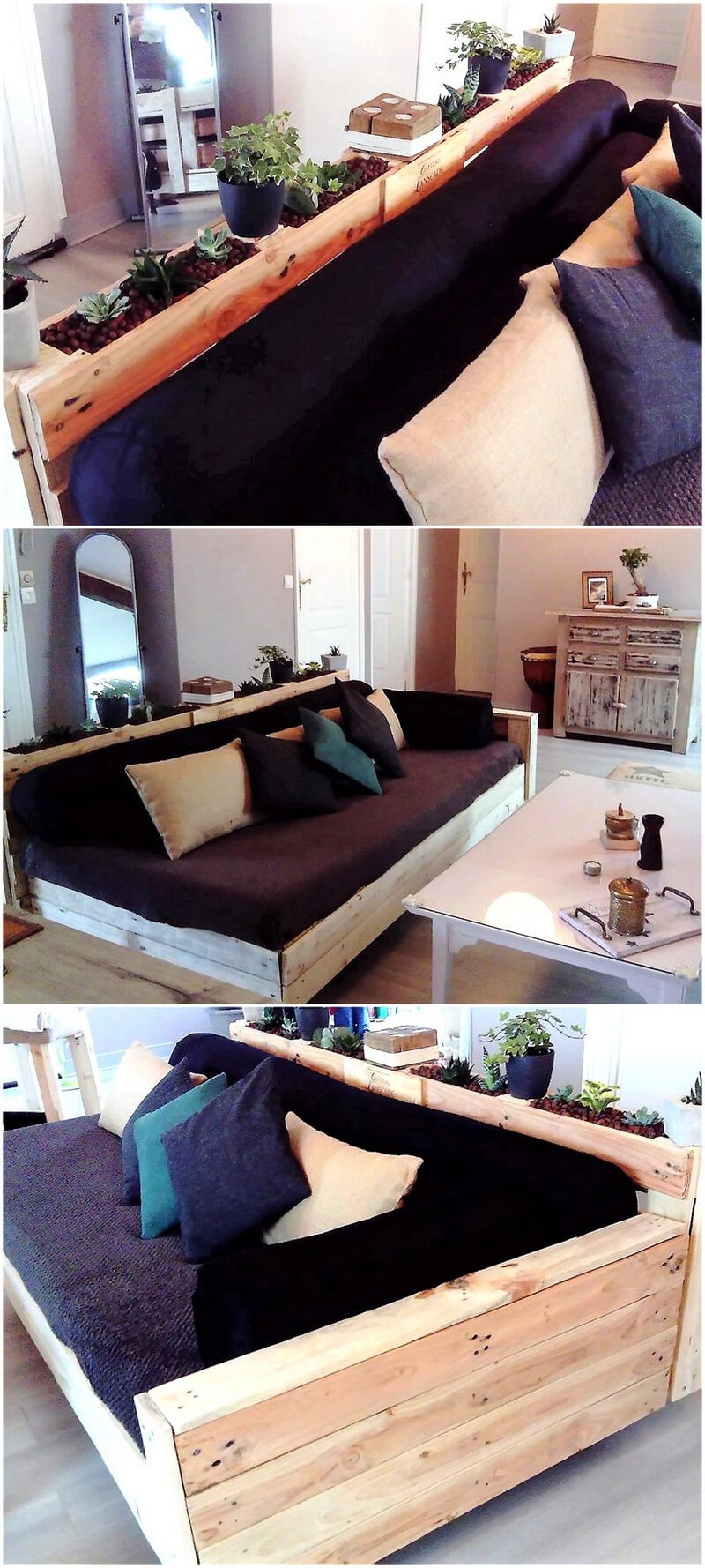 repurposed wood pallet couch idea