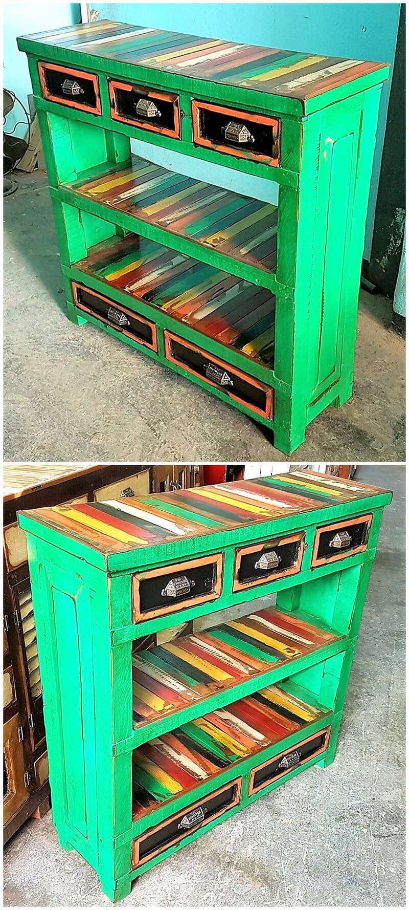 Painted wooden patio furniture - Repurposing Plans For Shipping Wood Pallets Wood Pallet