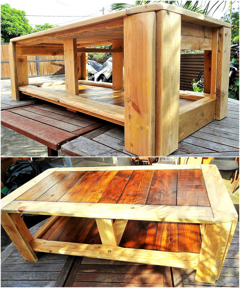 wood pallet made table
