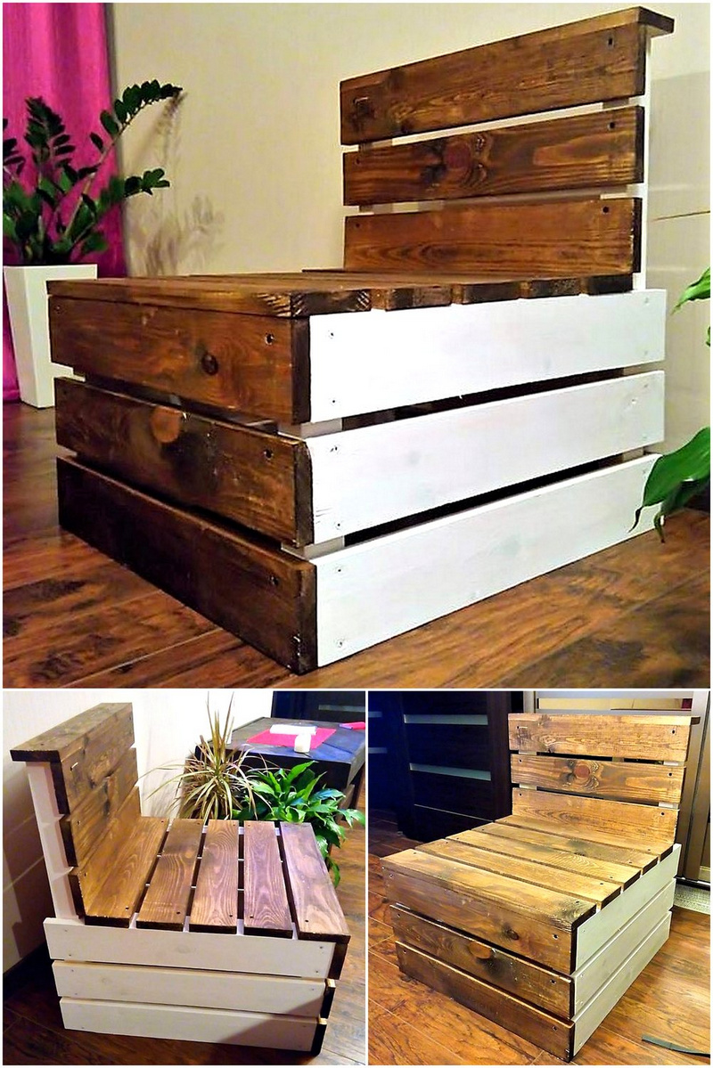 wood pallet seating idea