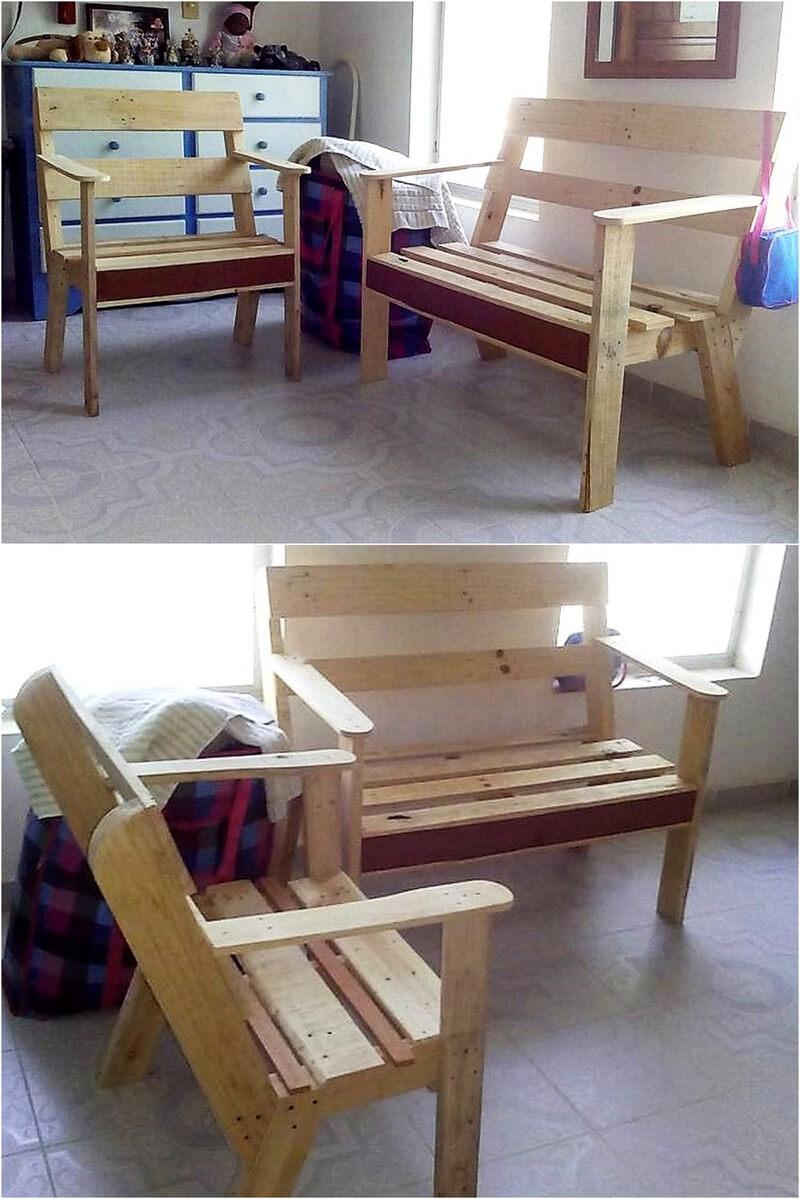 wood pallet simple furniture idea