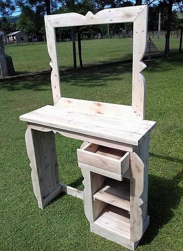 wood pallet vanity