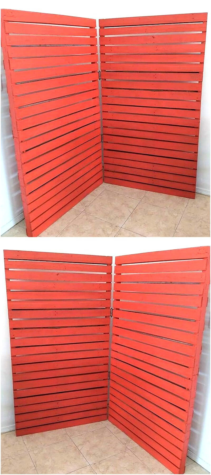 wood pallets room divider