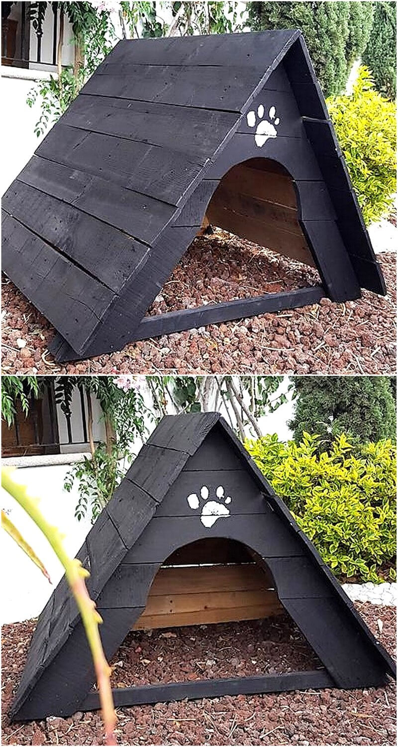 wooden pallet dog house idea